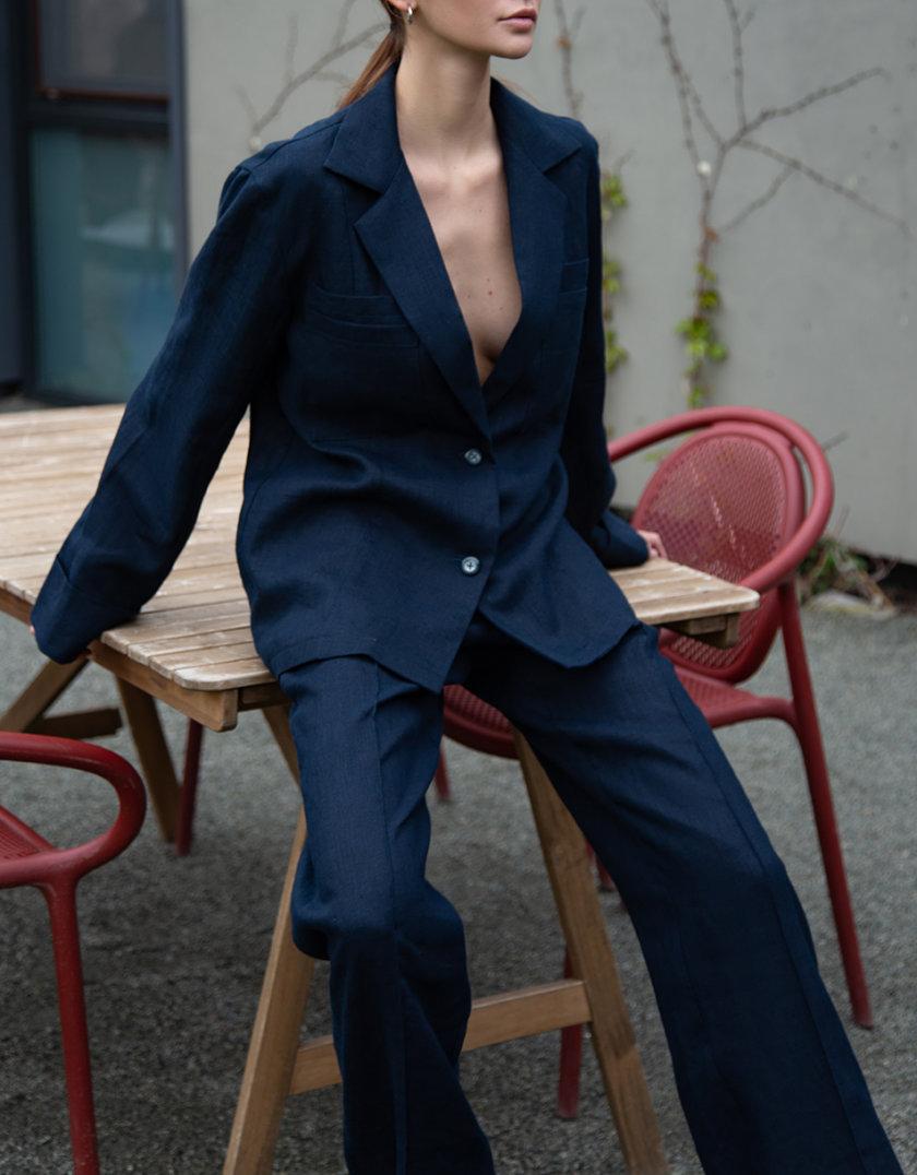 Пижамный комплект из льна LP_LP21SM-1, фото 1 - в интернет магазине KAPSULA