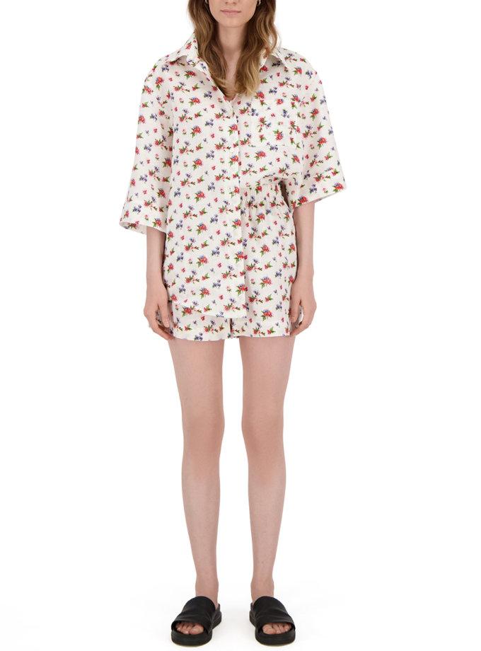 Комплект с шортами из льна LP_LP21SM-3-1, фото 1 - в интернет магазине KAPSULA