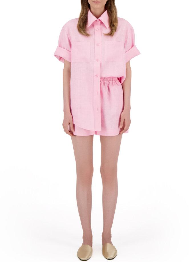 Комплект с шортами из льна LP_LP21SM-3, фото 1 - в интернет магазине KAPSULA