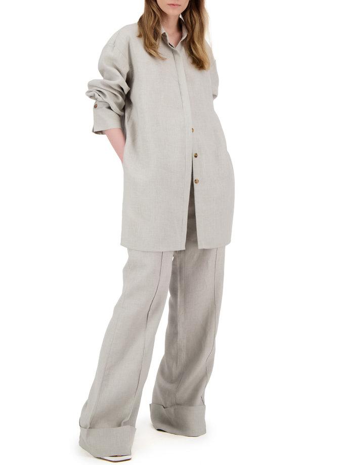 Лляний комплект з сорочкою LP_LP21SM-4, фото 1 - в интернет магазине KAPSULA