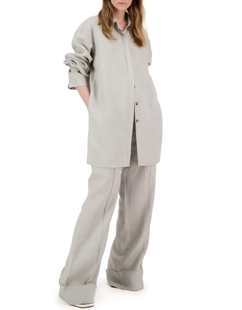 Льняной комплект с рубашкой LP_LP21SM-4, фото 1 - в интернет магазине KAPSULA