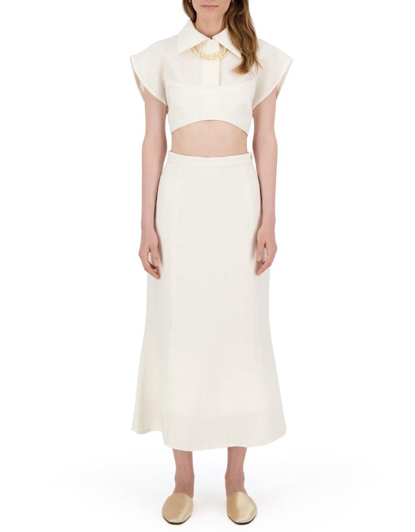 Комплект с юбкой из льна LP_LP21SM-8, фото 1 - в интернет магазине KAPSULA