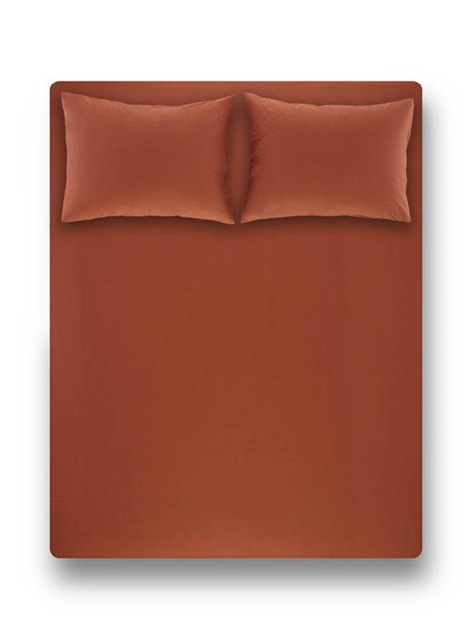 Простынь на резинке с наволочками Laura Brick Red PN_svt-2000022278348, фото 1 - в интернет магазине KAPSULA