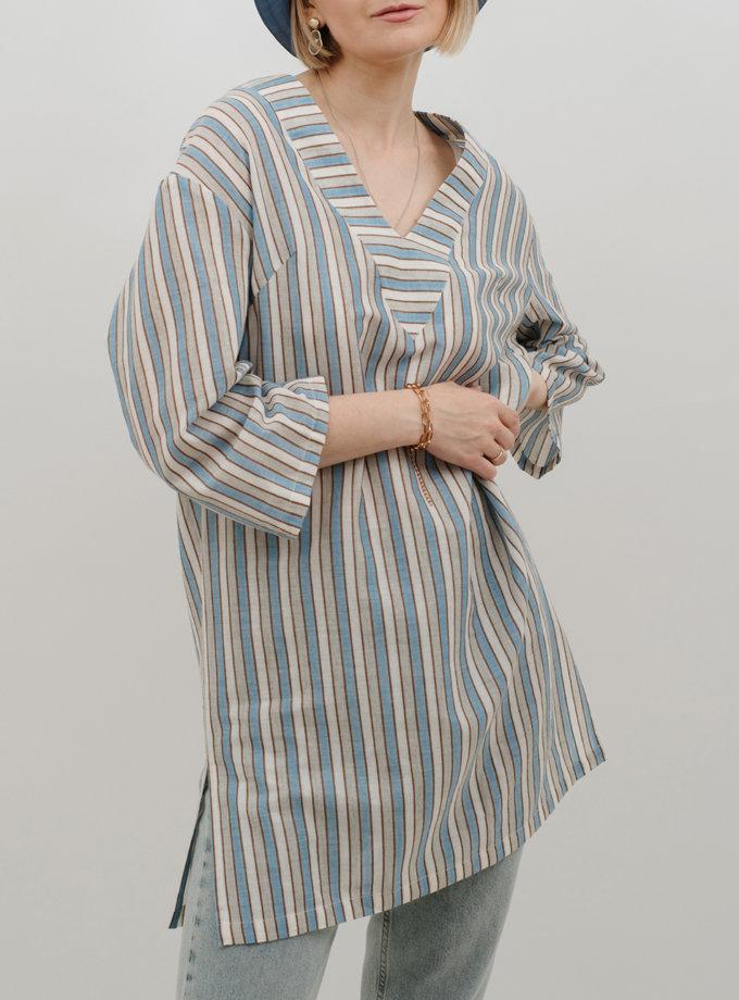 Хлопковое платье-туника MNTK_MTS2154, фото 1 - в интернет магазине KAPSULA