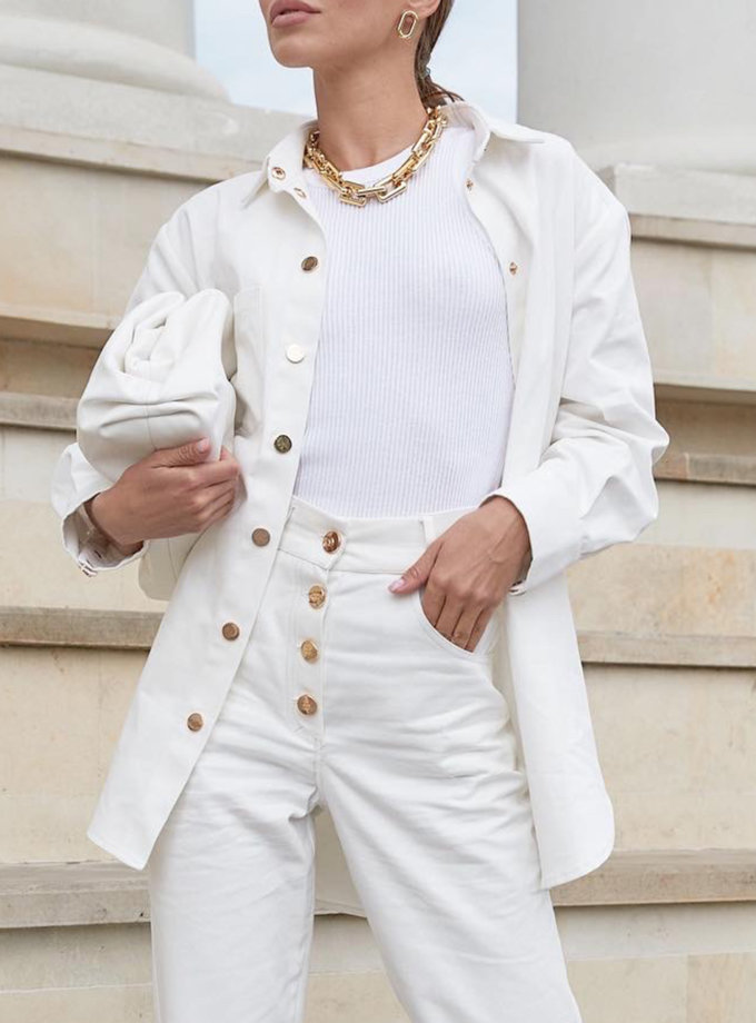 Джинсова сорочка Kira MC_MY5521-1, фото 1 - в интернет магазине KAPSULA