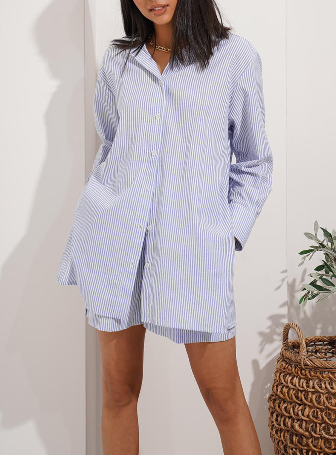 Хлопковый костюм Zuri MC_MY7421, фото 1 - в интернет магазине KAPSULA