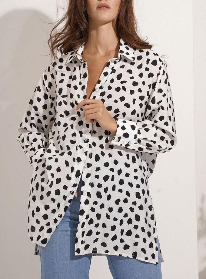 Удлиненная рубашка Astra MC_MY7521, фото 1 - в интернет магазине KAPSULA