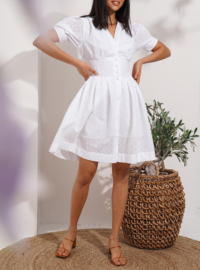 Хлопковое платье Porto MC_MY7821-1, фото 1 - в интернет магазине KAPSULA