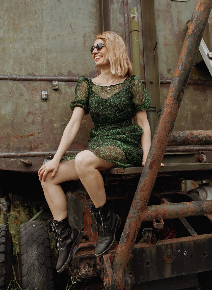 Прозрачное платье Forest из шелка PURE_PO_SS21_20, фото 1 - в интернет магазине KAPSULA