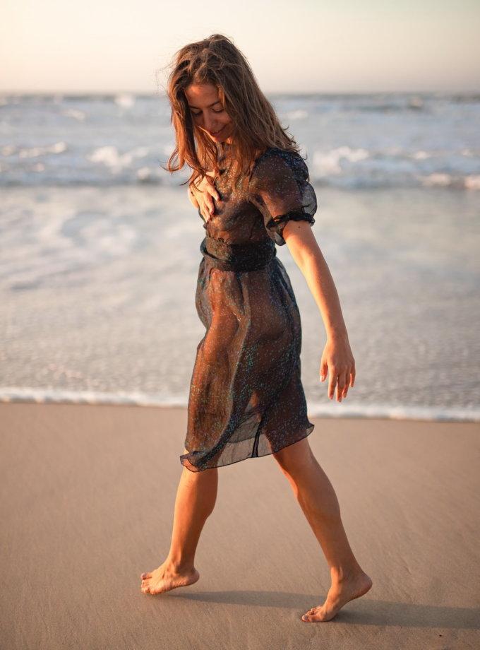 Прозрачное платье Ocean из шелка PURE_PO_SS21_21, фото 1 - в интернет магазине KAPSULA