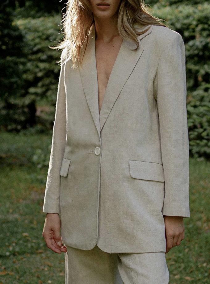 Льняной костюм с бермудами Nude TOTE_RT20-S01, фото 1 - в интернет магазине KAPSULA