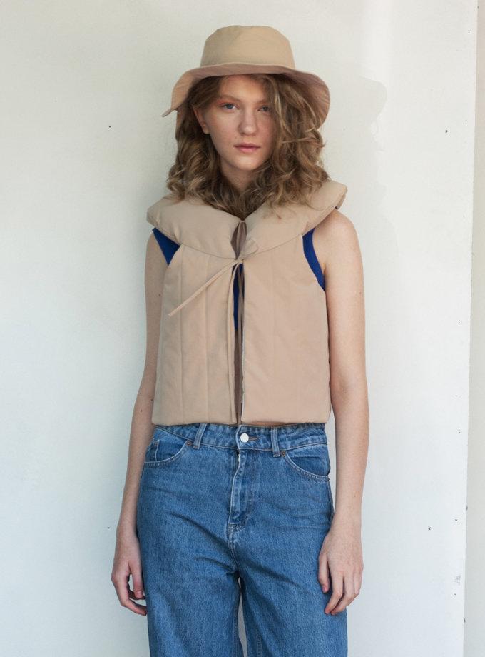 Укороченный жилет SHP-life-vest-beige, фото 1 - в интернет магазине KAPSULA