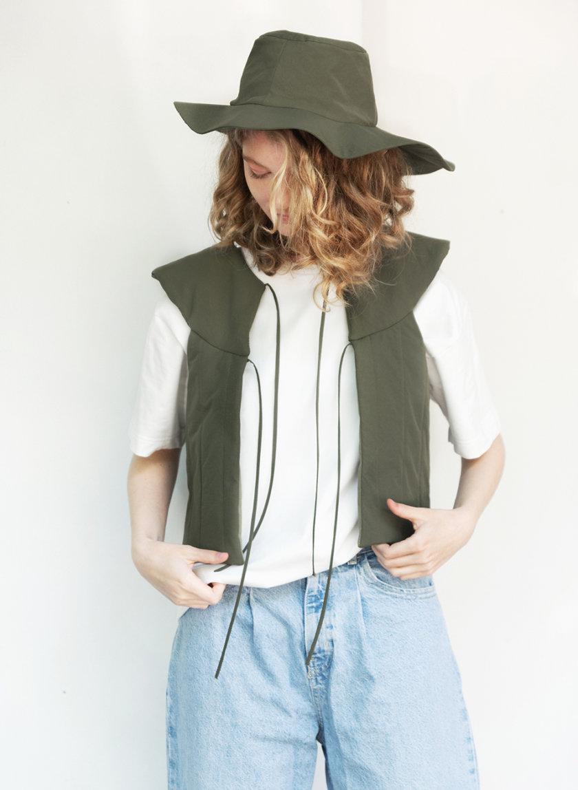 Укороченный жилет SHP-life-vest-haki, фото 1 - в интернет магазине KAPSULA