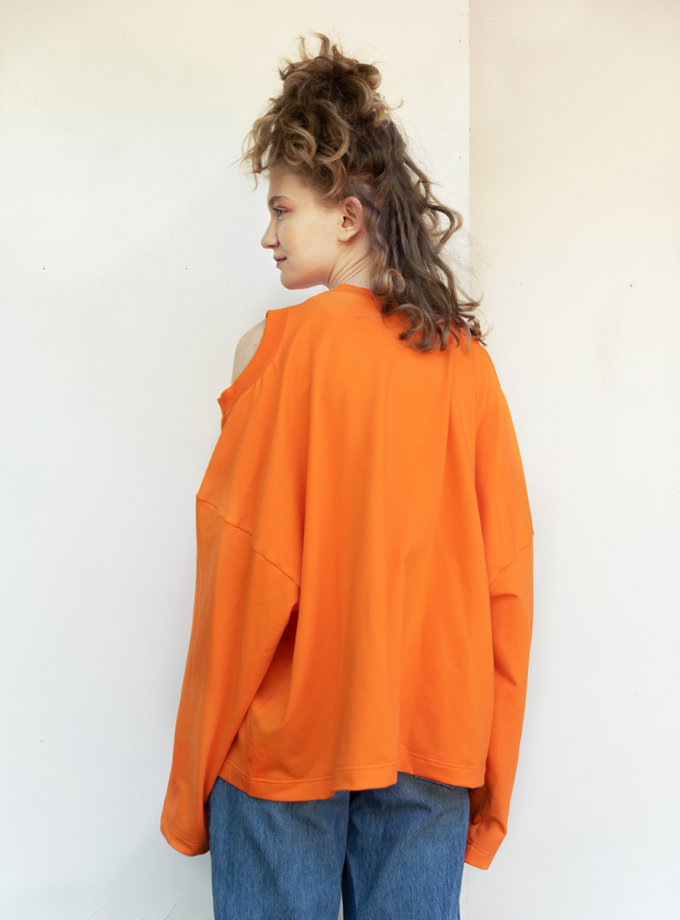 Хлопковый свитшот с трема горловинами SHP-sweatshirt-tru-gorla, фото 1 - в интернет магазине KAPSULA