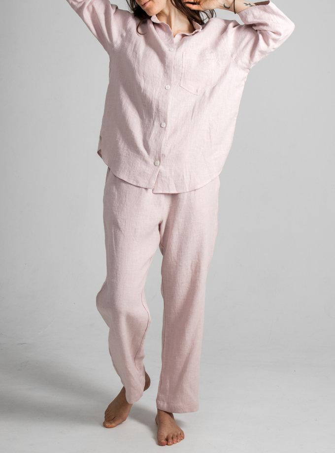 Льняная рубашка с штанами SGL_SP_DUSTYPINK_2, фото 1 - в интернет магазине KAPSULA