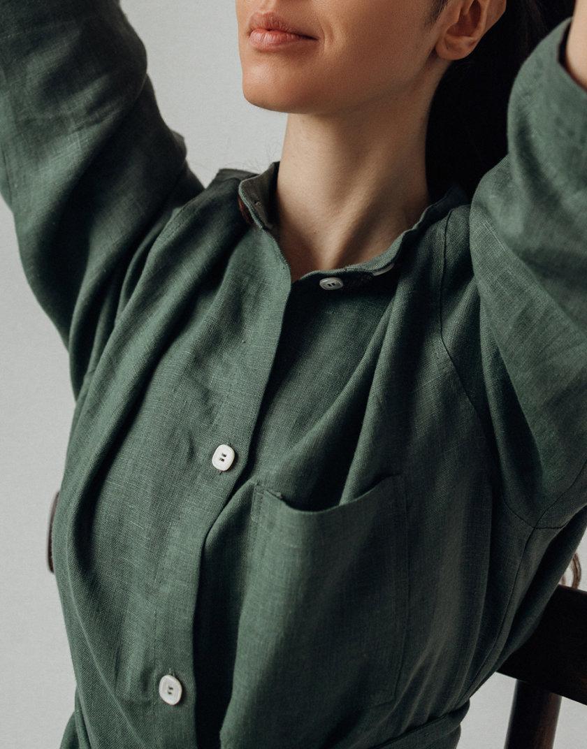 Льняная рубашка с штанами SGL_SP_MOSS_1, фото 1 - в интернет магазине KAPSULA