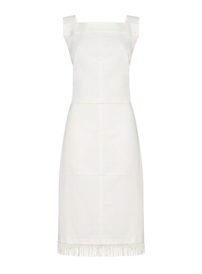 Хлопковое платье с бахромой FORMA_SS21-06, фото 1 - в интернет магазине KAPSULA