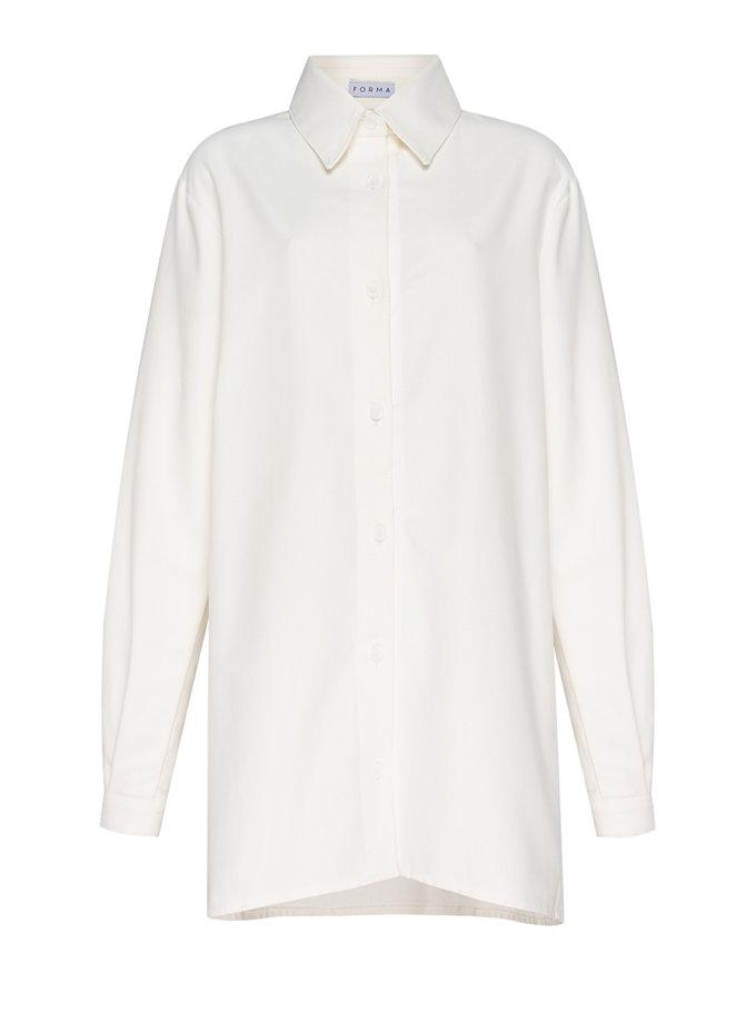 Удлиненная рубашка из хлопка FORMA_SS21-08, фото 1 - в интернет магазине KAPSULA