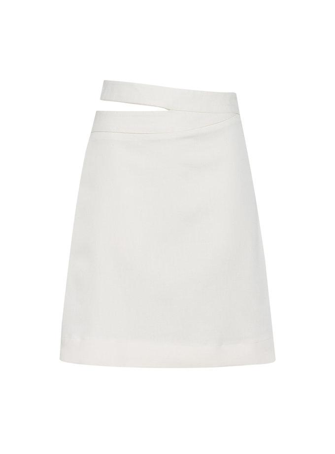 Хлопковая юбка с боковым вырезом FORMA_SS21-09, фото 1 - в интернет магазине KAPSULA