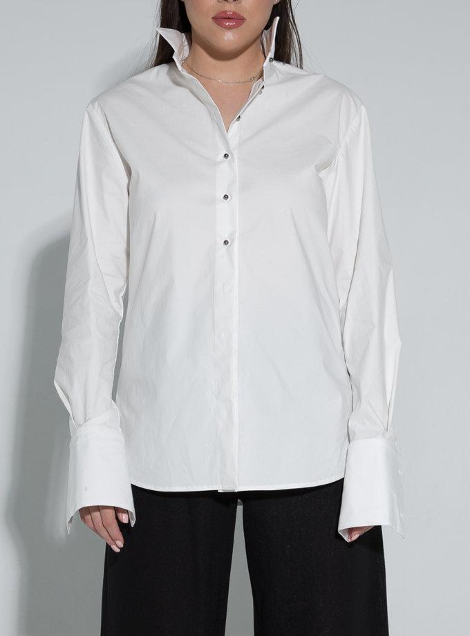 Сорочка з бавовни зі стійкою SLR_SS21_12, фото 1 - в интернет магазине KAPSULA