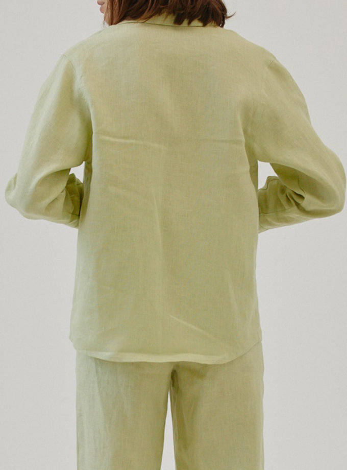 Льняная рубашка MRZZ_mz_104321, фото 1 - в интернет магазине KAPSULA
