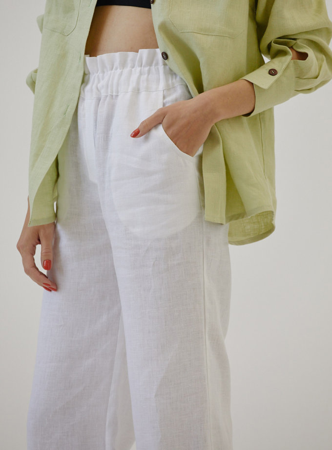Льняные брюки MRZZ_mz_104521, фото 1 - в интернет магазине KAPSULA