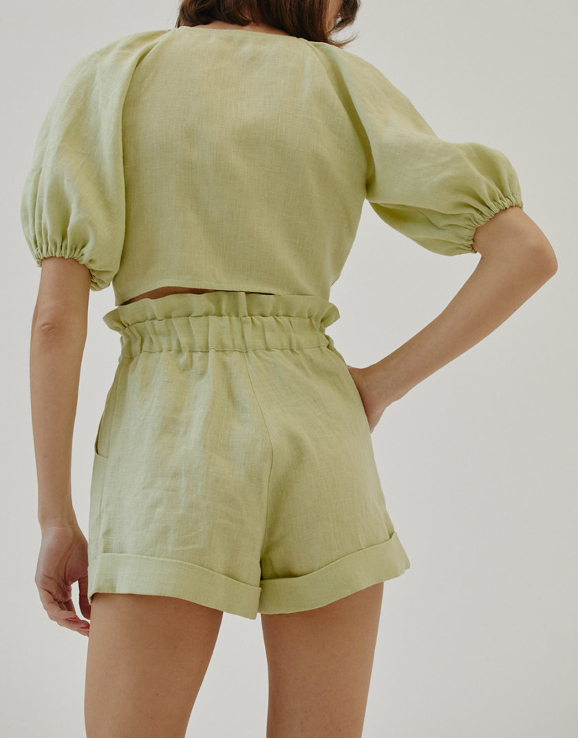 Льняные шорты MRZZ_mz_104121, фото 1 - в интернет магазине KAPSULA