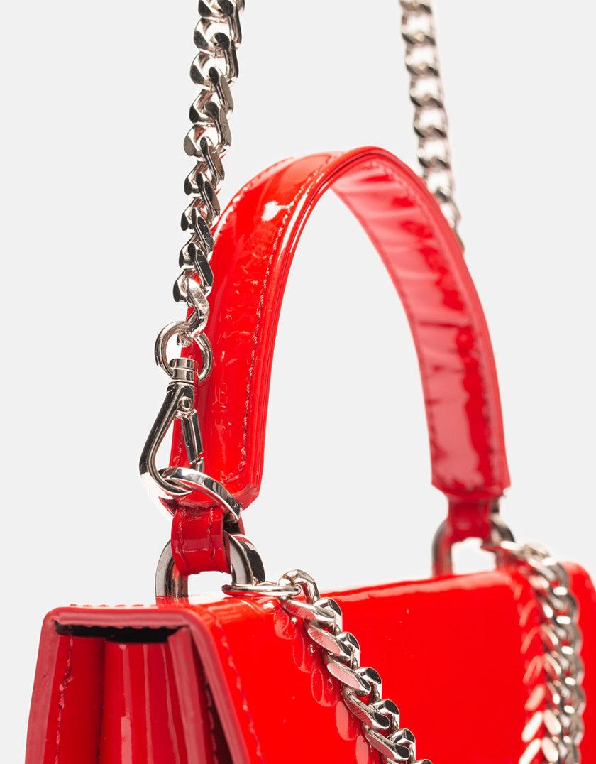 Кожаная сумка  Mini Boy Bag in Red gloss SNKD_P0062S, фото 1 - в интернет магазине KAPSULA