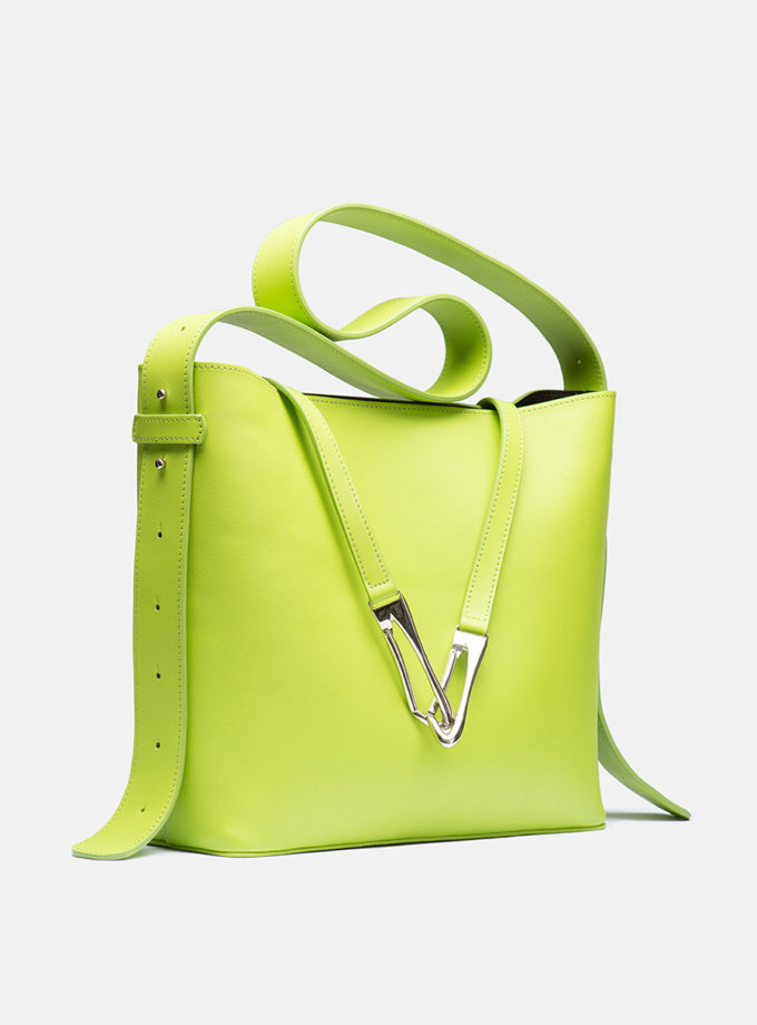 Кожаная сумка Tote Bag in Lime green SNKD_P0058S, фото 1 - в интернет магазине KAPSULA