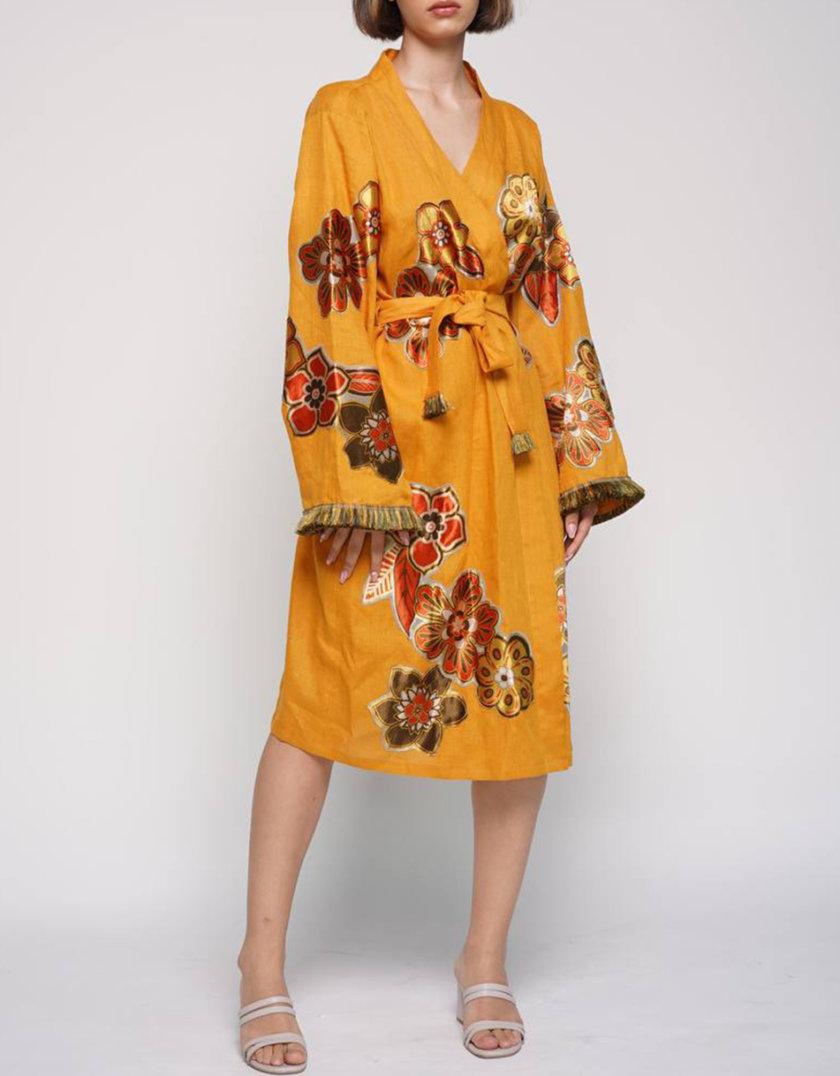 Льняное платье-кимоно ZHRK_zkss2100030y, фото 1 - в интернет магазине KAPSULA