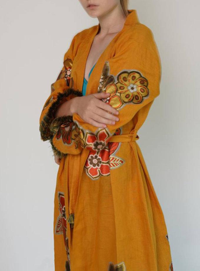 Льняна сукня-кімоно ZHRK_zkss2100030y, фото 1 - в интернет магазине KAPSULA