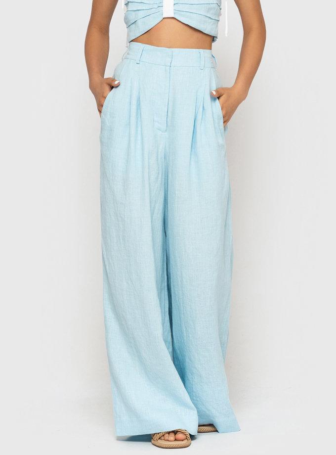 Лляні штани палаццо MRND_М104-2, фото 1 - в интернет магазине KAPSULA