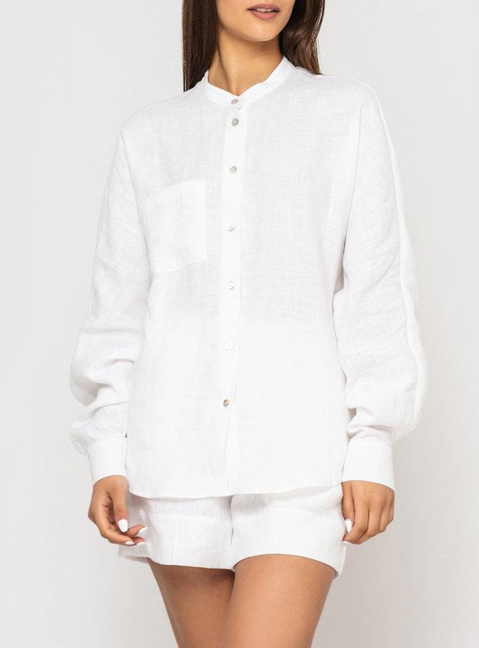 Лляна сорочка оверсайз MRND_М112-1, фото 1 - в интернет магазине KAPSULA