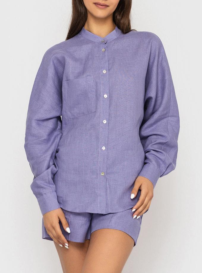 Льняная рубашка оверсайз MRND_М112-2, фото 1 - в интернет магазине KAPSULA
