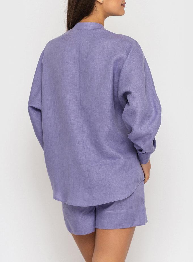 Льняные шорты на резинке MRND_М113-2, фото 1 - в интернет магазине KAPSULA