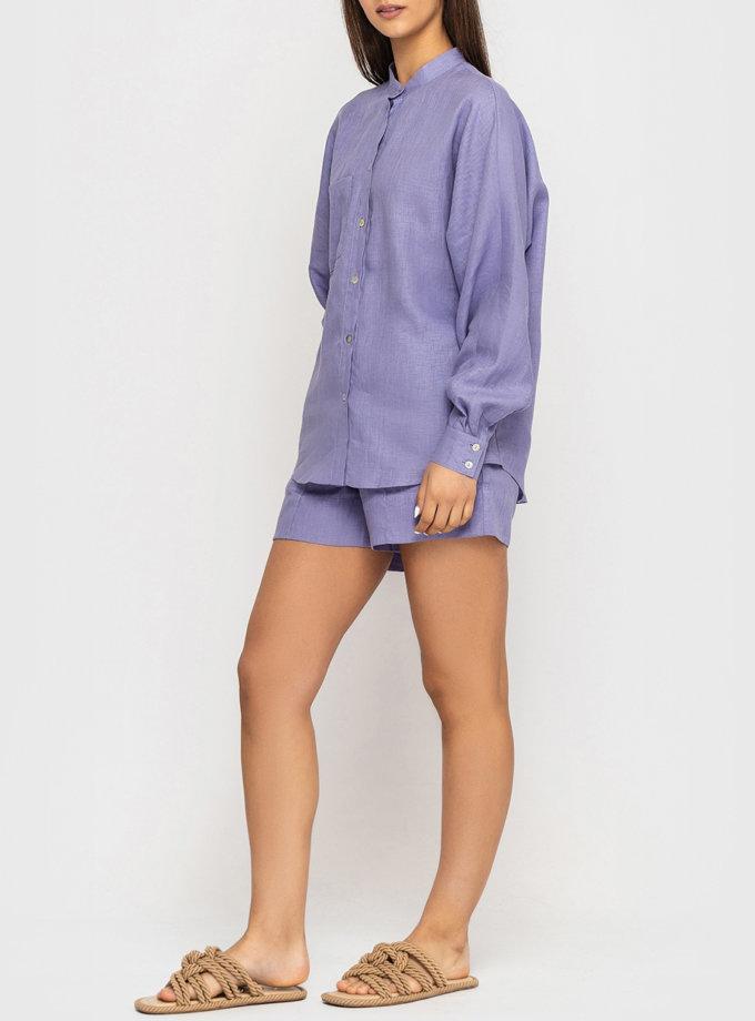Льняной комплект с шортами MRND_М120-2, фото 1 - в интернет магазине KAPSULA