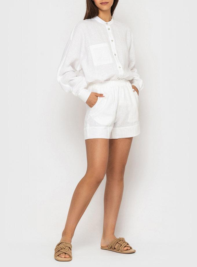 Льняной комплект с шортами MRND_М120-1, фото 1 - в интернет магазине KAPSULA