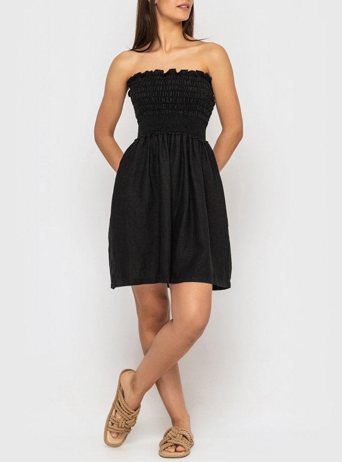 Лляна сукня міні на бретелях MRND_М99-3, фото 1 - в интернет магазине KAPSULA