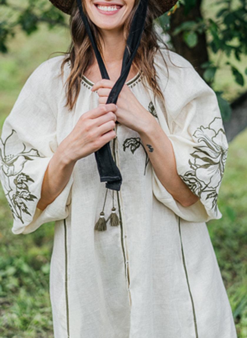 Платье из льна Лилия VF_UA-1613, фото 1 - в интернет магазине KAPSULA