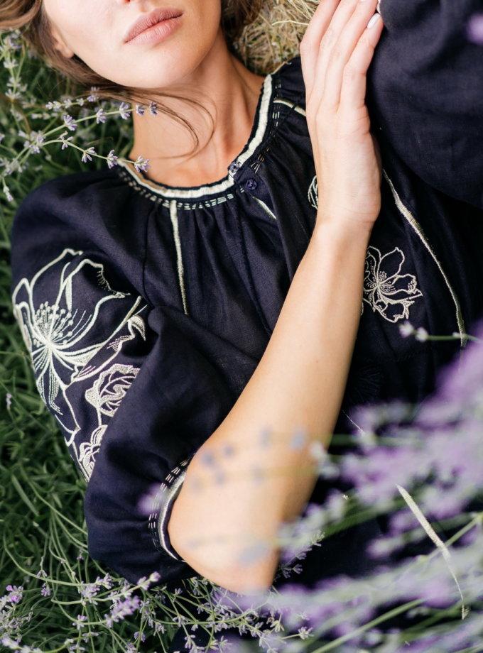 Сукня з льону Лілія VF_UA-1622, фото 1 - в интернет магазине KAPSULA