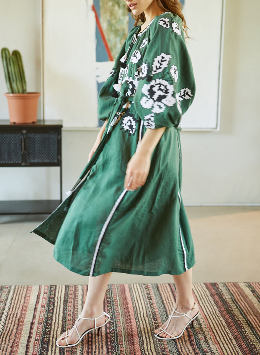 Платье из льна Роза VF_UA-0083112, фото 1 - в интернет магазине KAPSULA