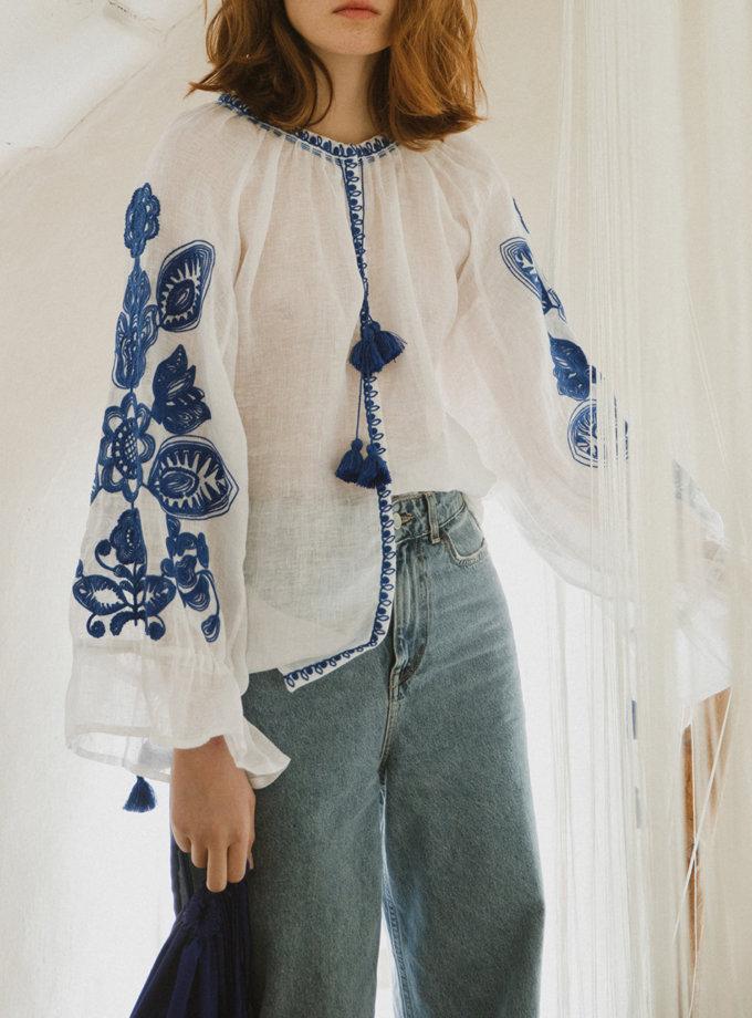 Сорочка з льону Родинне дерево VF_UA-0009116-1, фото 1 - в интернет магазине KAPSULA