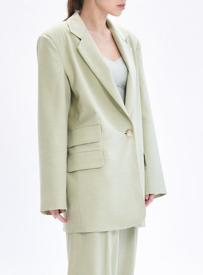 Однобортный жакет TOTE_BS-S02-jacket-kapsula, фото 1 - в интернет магазине KAPSULA