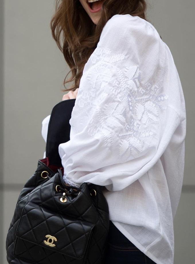 Сорочка з льону Царська квітка VF_UA-000297, фото 1 - в интернет магазине KAPSULA