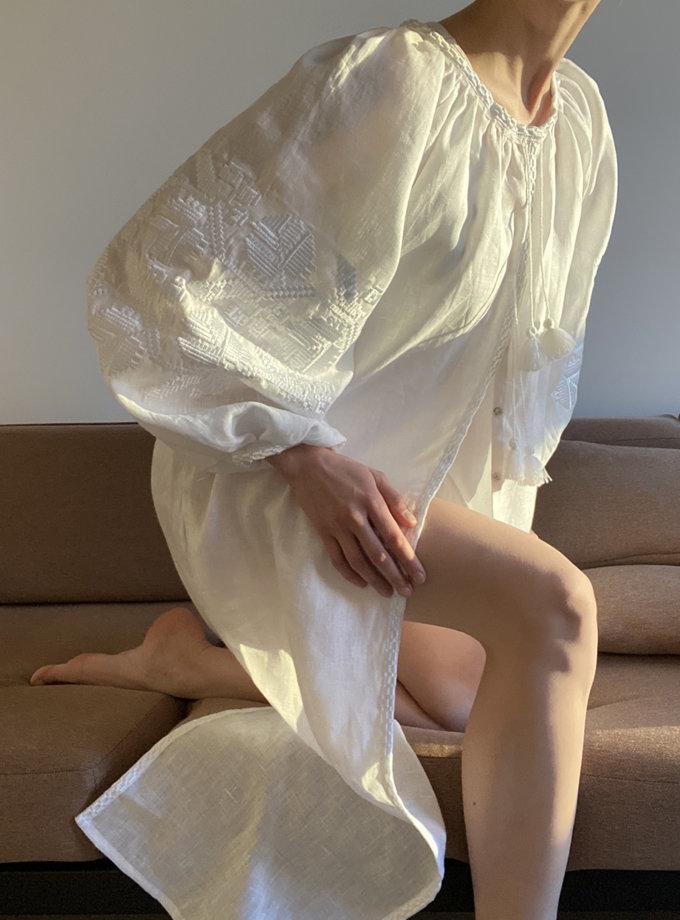 Сукня з льону Царська квітка VF_UA-110308, фото 1 - в интернет магазине KAPSULA