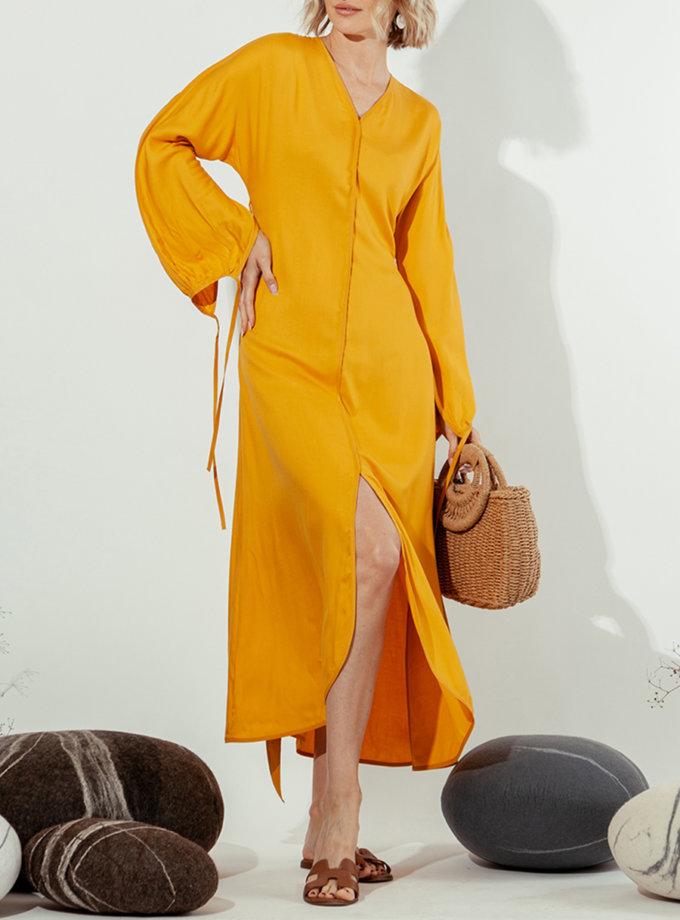 Платье миди с V-вырезом MMT_022-mango, фото 1 - в интернет магазине KAPSULA