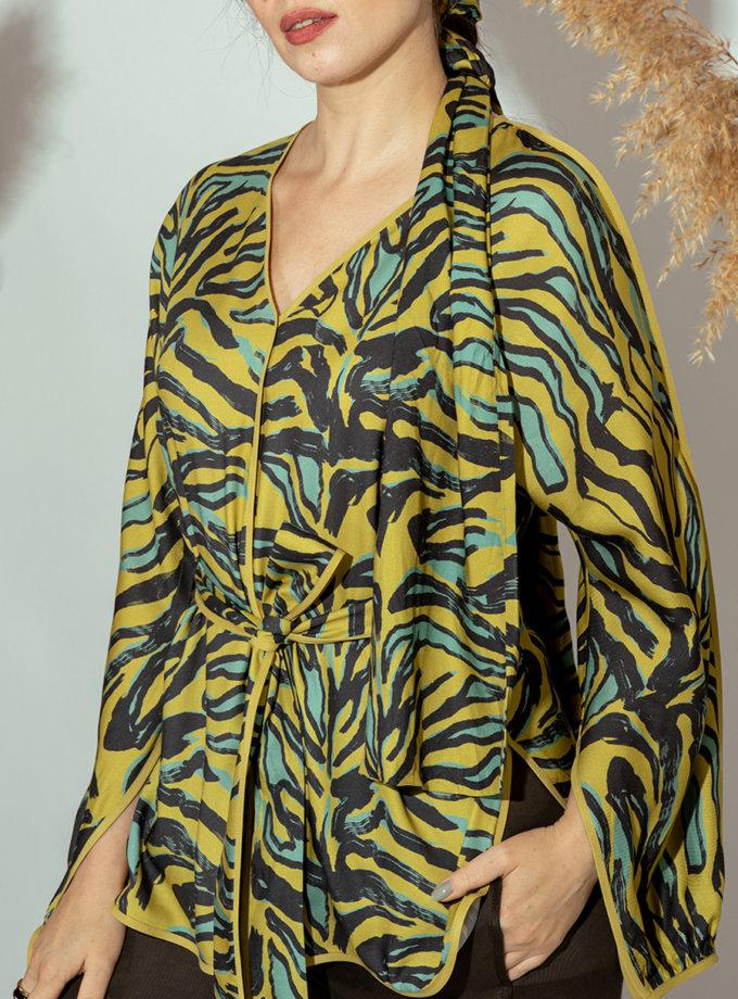 Блуза з V-вирізом MMT_022a, фото 1 - в интернет магазине KAPSULA