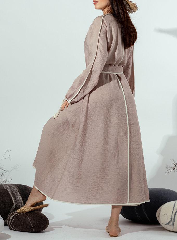 Платье на запах MMT_022b-beige, фото 1 - в интернет магазине KAPSULA