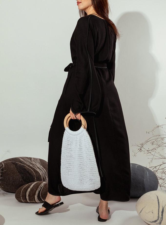 Платье на запах MMT_022b-black, фото 1 - в интернет магазине KAPSULA