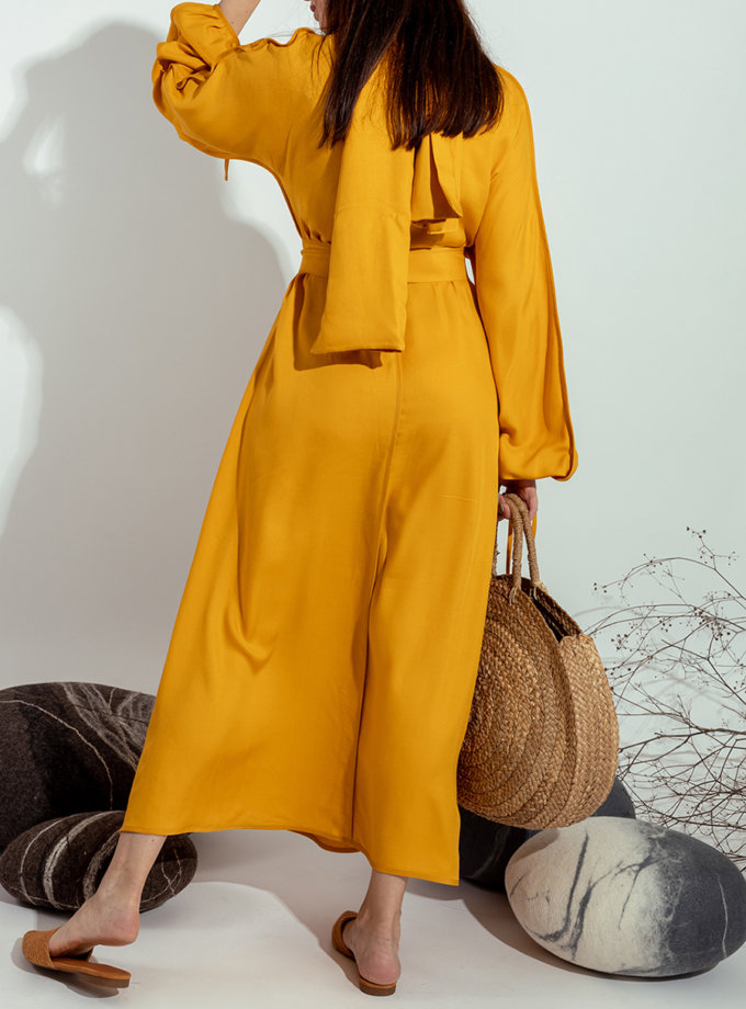 Платье на запах MMT_022b-mango, фото 1 - в интернет магазине KAPSULA